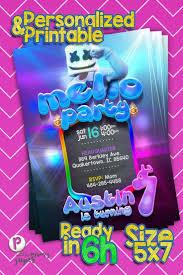 Dj Marshmello Invitations En 2020 Decoracion Fiesta Cumpleanos