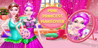 games like pink princess makeup salon