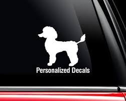 Poodle Vinyl Window Decals Make A Decal Online W Decal Etsy
