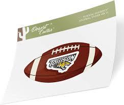 Amazon Com Towson University Tu Tigers Ncaa Vinyl Decal Laptop Water Bottle Car Scrapbook Football Logo Sticker Arts Crafts Sewing