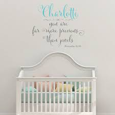 Proverbs 31 10 More Precious Than Jewels Personalized Two Color Wall Decal Proverbs 31 10 More Precious Than Jewels Personalized Decal