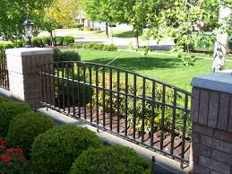 Brick Pillars And Wrought Iron Fence For Ideas Photos Houzz