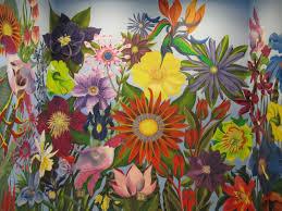 Flower Mural Paintings