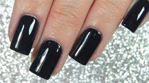 nails with dark nail polish perfectly