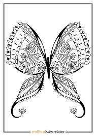Kleurplaat Vlinder Download Gratis Vlinder Kleurplaten Eendier Nl