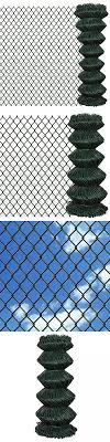 Patio Chain Link Fence Rolled Roll Wire Mesh Garden Outdoor Border Sizes Opt Chain Link Fence Garden Fencing Chain Fence