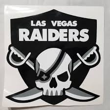 Las Vegas Raiders Decal For Car Or Wall Etsy