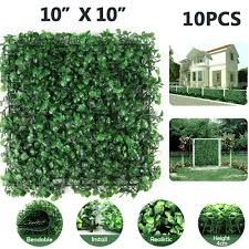 6 Boxwood Hedge Panels Artificial Greenery Fence Screen Garden Privacy Mat Wall Privacy Screens Windscreens Garden Patio Cientificafest Cientifica Edu Pe
