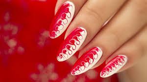 gel nail art two tone swirl flawlessend