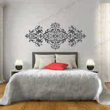 Exqusite Headboard Wall Decal Baroque Style Design Mandala Flower Vinyl Wall Stickers Master Home Decor Wallpaper Mural Rb487 Wall Stickers Aliexpress