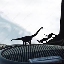 Barosaurus Dinosaur Jeep Wrangler Decal Long Neck Dino T Rex Raptor Jurassic Park Decal Sticker Jeep Stickers Jeep Wrangler Jeep
