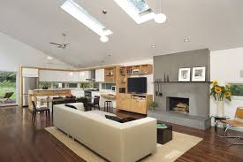 stucco fireplace with television and