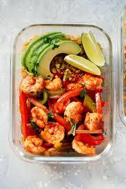 Low-Carb Shrimp Fajita Meal-Prep Bowls ...