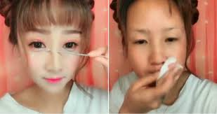 next level before and after make up