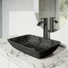 gray onyx glass vessel bathroom sink