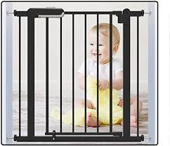 Amazon Com Baby Gates Black Baby Safety Fence Without Drilling Room Divider Install Anywhere For Stairs Size 76 85cm Home Kitchen