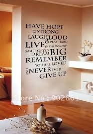 Funlife 1pc House Rule 6 Have Hope Inspirational Wall Sticker Quote Saying Decals 56x75cm In Wall Sti Vinyl Wall Quotes Wall Stickers Quotes Wall Stickers Uk