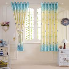 Short Curtains For Living Room Bedroom Small Windows Cartoon Star 2 Meter Height Blue Children Boys Girls Curtains Aliexpress