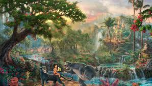 thomas kinkade painting the jungle