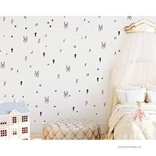 Joyreside Rock And Roll Decal Set Wall Decal Vinyl Stickers Hands Lightning Bolts Music Notes Stars