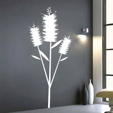 Edgy Flower Wall Art Decal Trendy Wall Designs