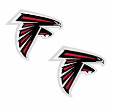 Atlanta Falcons Vinyl Cornhole Decal Logo Wall Sticker Car 12 2 Pc Set Ebay