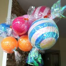 diy candy wrapped balloons kid