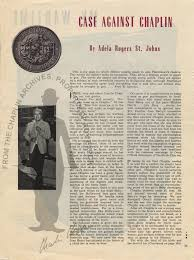 Search | Search | Case Against Chaplin/by Adela Rogers St. Johns | Charlie  Chaplin Archive