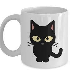 Black Cat Mugs Beer Cup Travel Milk Cup Porcelain Coffee Mug Tea Cups Home Decal Wish