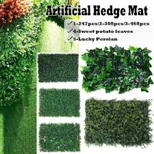 1pcs Outdoor Artificial Hedge Privacy Fence Grass Mat 40x60cm Vertical Garden Plants Balcony Decoration Artificial Plants Aliexpress