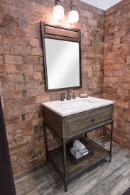 bathroom single sink vanity industrial