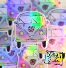 Holographic Vw Bus Vinyl Sticker Bright Side Digital Designs