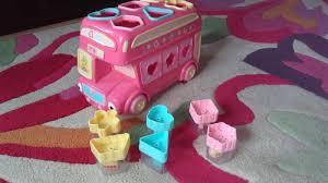elc pink shape sorting bus in