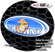 U S Marine Corps Oval Decal 1 For Ford