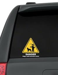 Danger Angry Saint Bernard Owner Decal Pack