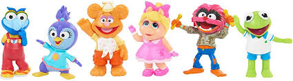 Amazon Com Muppets Babies Playroom Figure Set 6 Pieces Toys Games