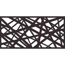 Metal Privacy Screen Laser Cut Decorative Steel Privacy Panel Metal Fencing Hanging Room Divider Partitions Panel Screen 48x24inch 1 Piece Algebra Strike Black Amazon In Garden Outdoors
