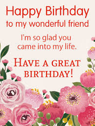 happy birthday wishes card for friends