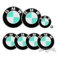 For Bmw Badge Tiffany Decals Vinyl Wrap Sticker Roundel Emblem Etsy