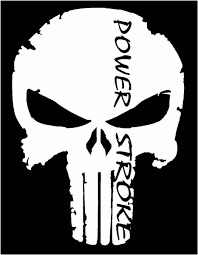 Product Punisher Ford Powerstroke F250 F350 Diesel Truck Window Vinyl Sticker Decal