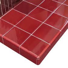 square glazed tiled fireplace hearths