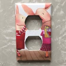 Ian Falconer Olivia The Pig Pink White Brown Red Baby Shower Etsy