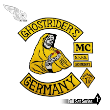 Mc1931 7pcs Set Ghostrider S Germany Embroidered Patch Iron On Sew On Back Biker Rider Patch For Jacket Vest Free Shipping Embroidered Patch Iron On Patchespatches Embroidered Aliexpress