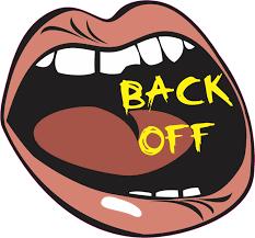 5x4 5 Big Mouth Back Off Vinyl Bumper Sticker Car Decal Stickers Decals Walmart Com Walmart Com