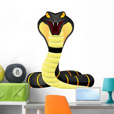 Amazon Com Wallmonkeys King Cobra Wall Decal Peel And Stick Graphic 36 In H X 31 In W Wm98746 Furniture Decor