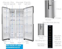 Kích thước tủ lạnh Side By Side 1 cánh, 2 cánh, 4 cánh Mini Hitachi