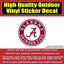 University Of Alabama Crimson Tide Vinyl Car Window Laptop Sticker Dec Colorado Sticker