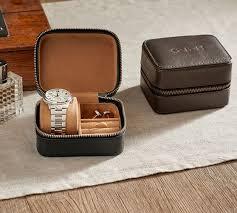 grant leather travel zip box pottery barn