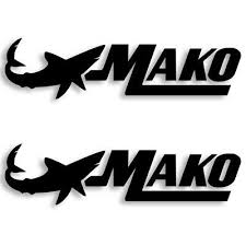 Details About Mako Marine Boats Vinyl Decal Sticker Set Of 2 Free Shipping 4 Sizes In 2020 Vinyl Decals Sticker Set Boat Decals