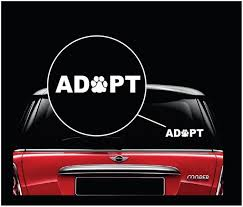 Adopt Dog Paw Dog Decal Dog Stickers Custom Sticker Shop